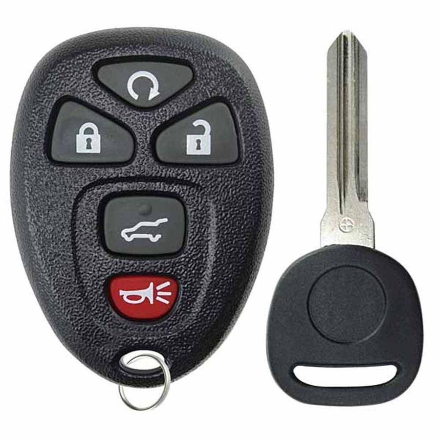 Saturn Outlook GMC Acadia Yukon OUC60270, OUC60221 Key Fob Keyless Entry Remote with Ignition Key fits Chevy Suburban Tahoe Traverse Cadillac Escalade SRX// Buick Enclave