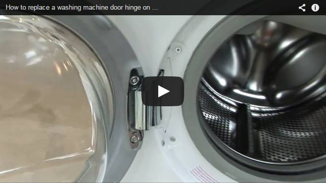 How To Replace A Washing Machine Tumble Dryer Door Hinge Aeg Door Hinges Tumble Dryer Washing Machine