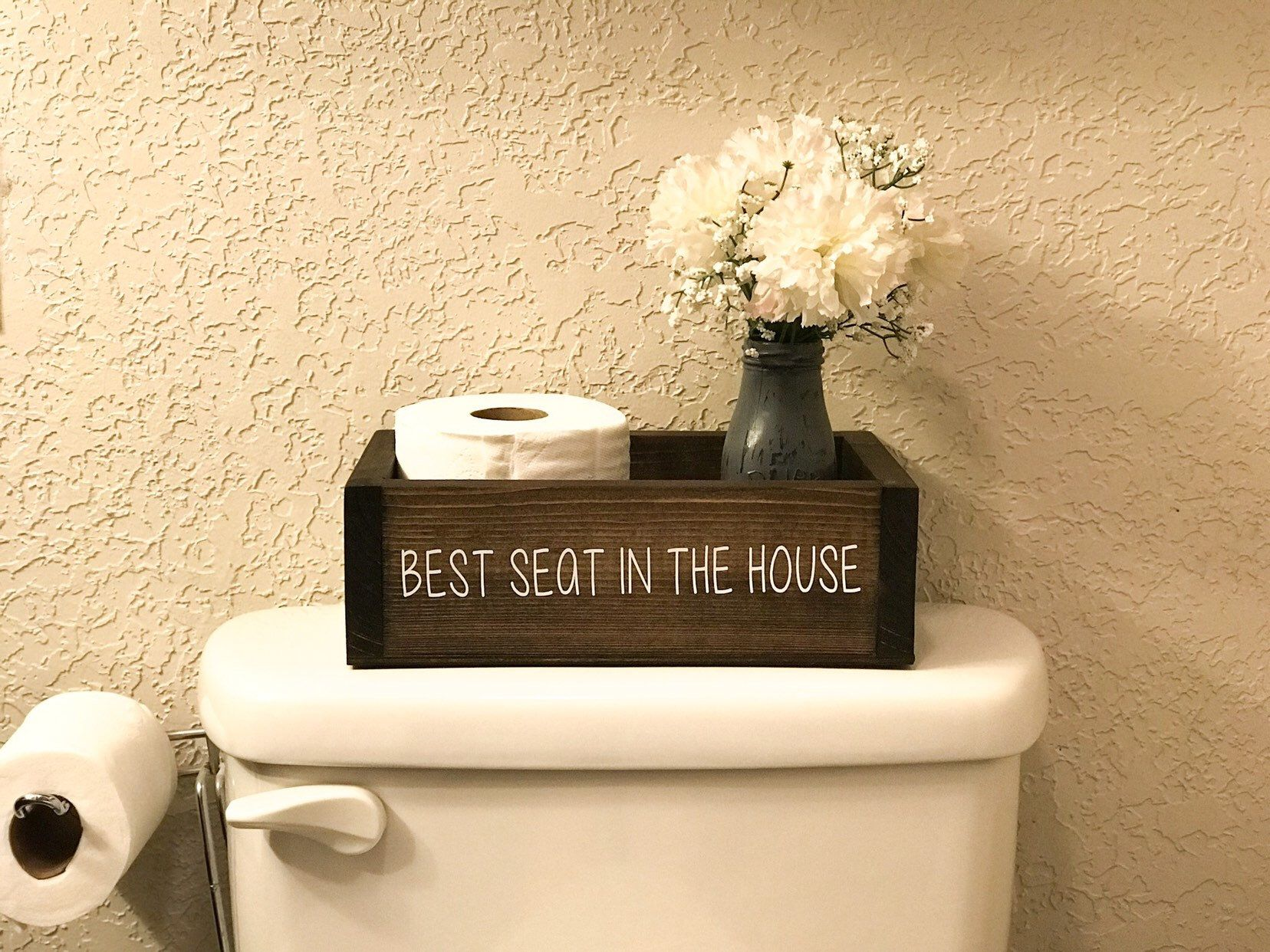 Best Seat In The House Bathroom Box Toilet Paper Holder Toilet Paper Basket Bathroom Storage Bathroom Humor Funny Bathroom Decor In 2020 Funny Bathroom Decor Kid Bathroom Decor Bathroom Box