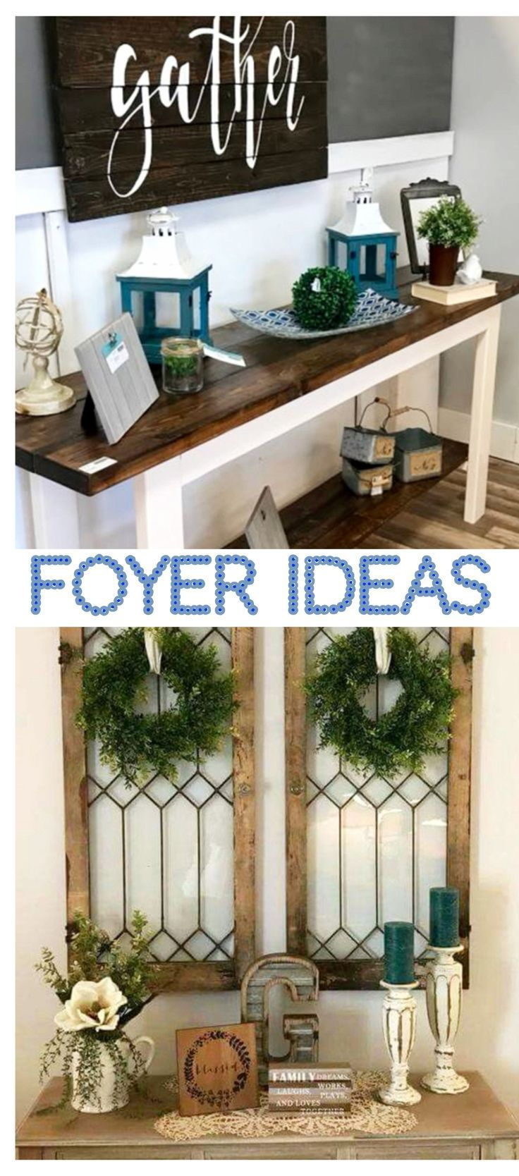 Foyer Ideas for decorating entryway or entrance hall - great ideas for small foyers too (like apartment foyers / entryways) #diyhomedecor #apartmentdecorating #homedecorideas