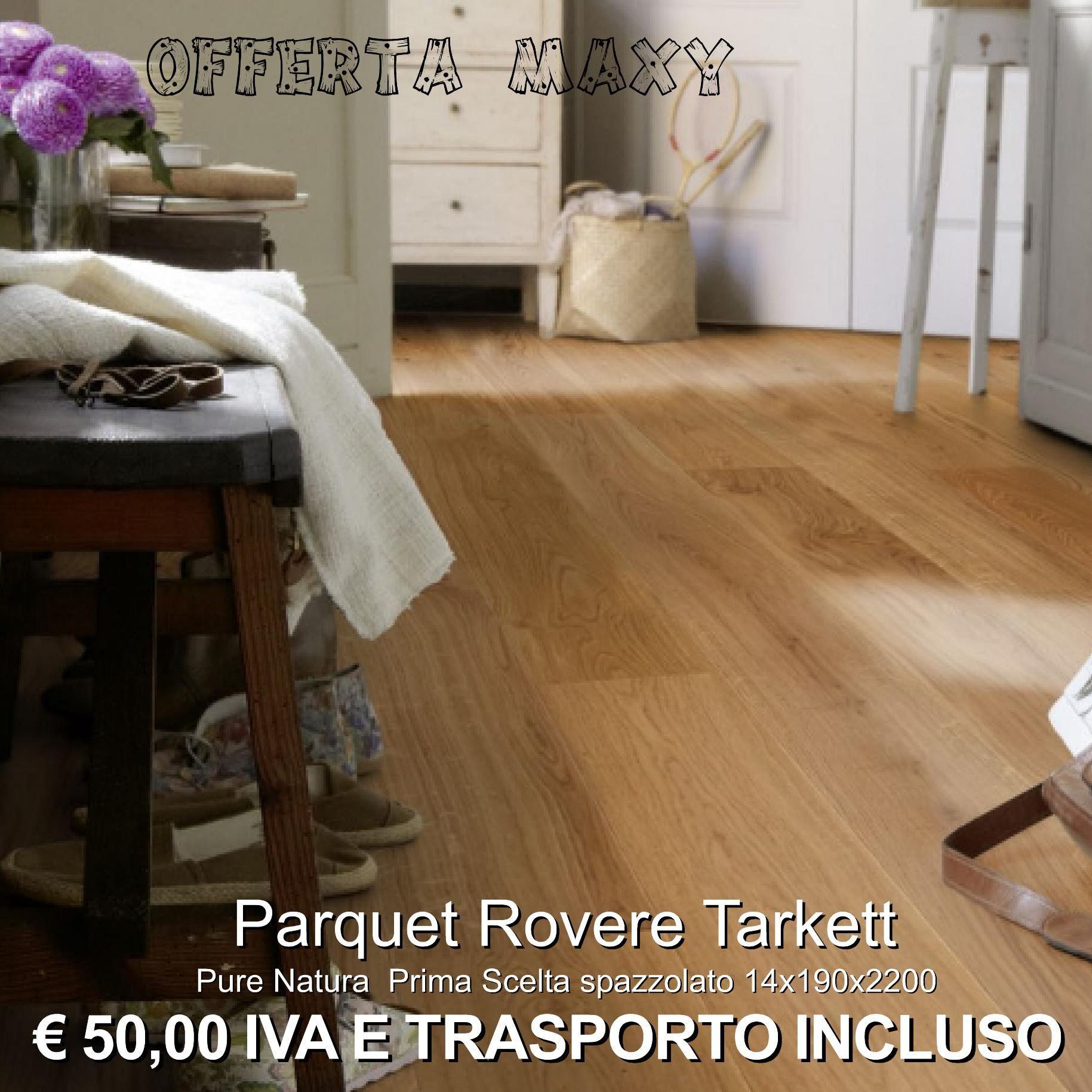 Parquet Rovere Tarkett Pure Natura Prima Scelta spazzolato 14x190x2200