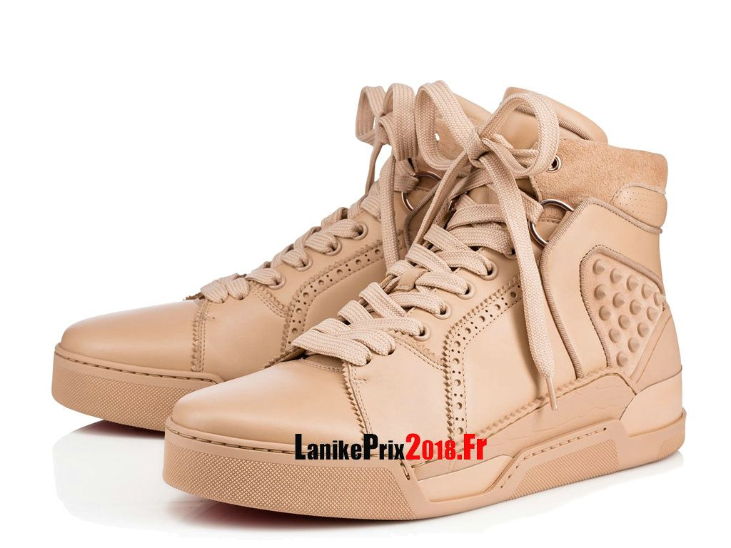 3529b1cdc888 Christian Louboutin 2018 SS Studded Street Style Plain Leather Sneakers  1180048N046 Chaussures Pas Cher Pour Homme