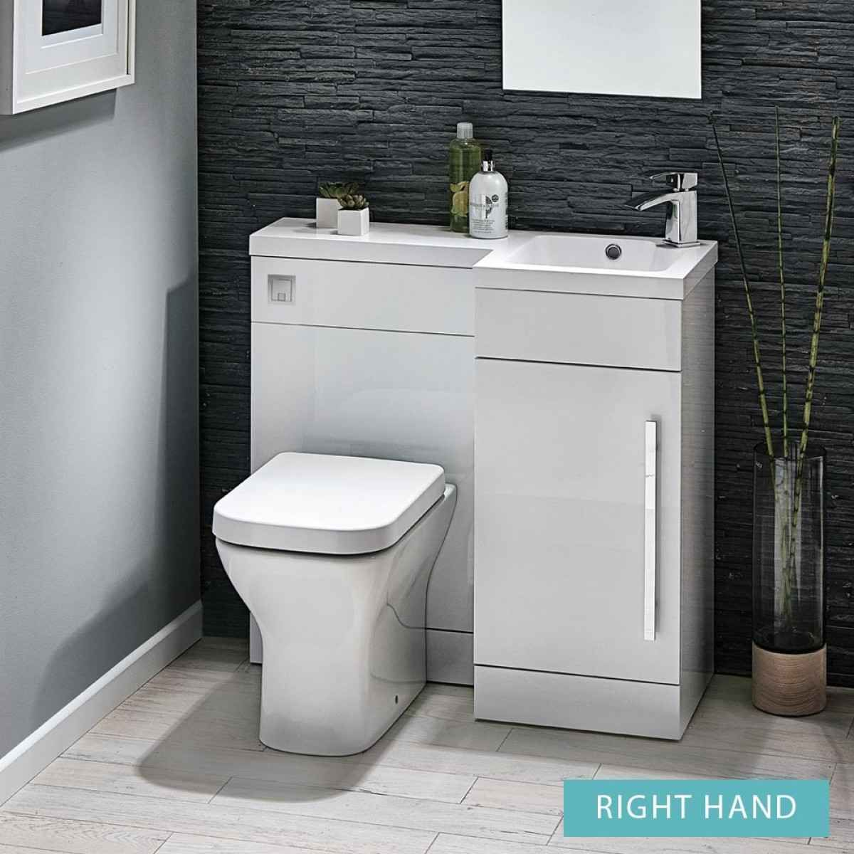 Harbour Icon 900mm Spacesaving Combination Bathroom Toilet Sink