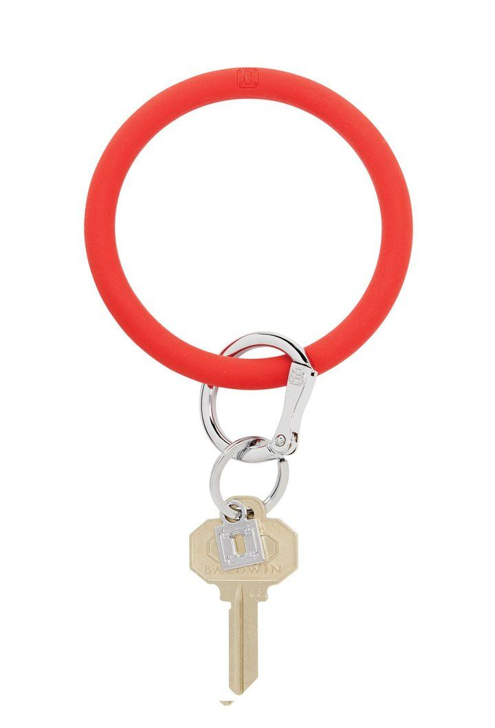 Oventure Silicone Key Ring Red Big O Key Chain Silicone Cherry