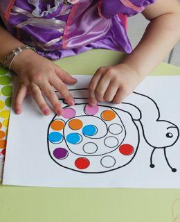 Atelier Gommettes L Escargot Activite Enfant 3 Ans Art Montessori Jeux Enfant 2 Ans