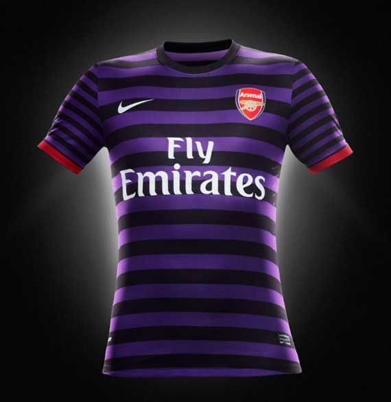 best website efcce 892bc Arsenal third away kit 2012/13 purple black | My Style ...