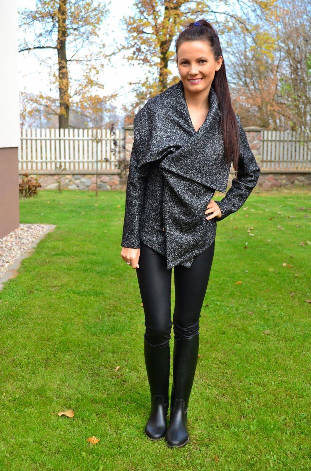 Polka dot wellingtons outfit. | PolskieSzafiarki.pl i