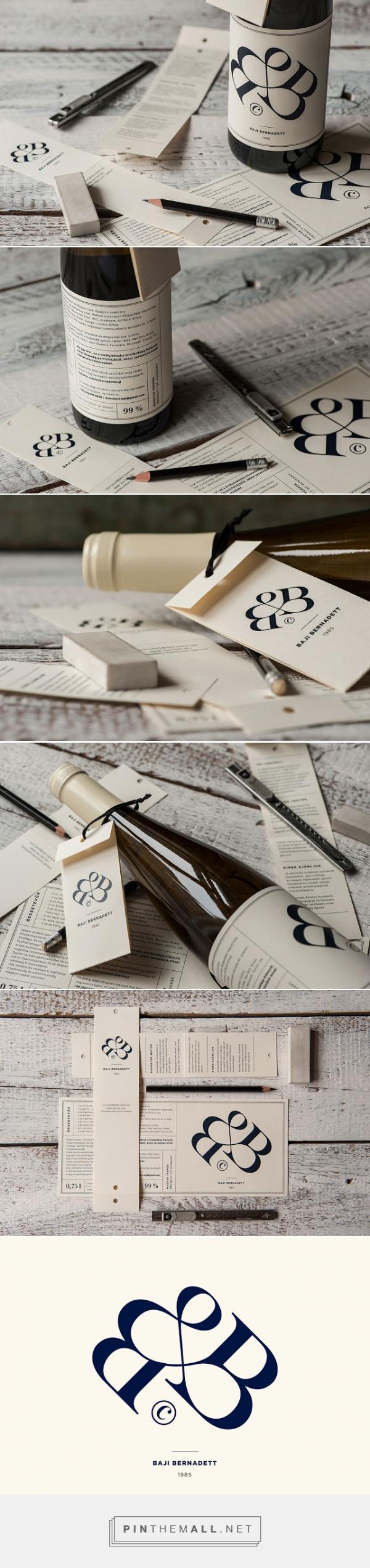 Bernadett Baji's #Wine #Packaging by kissmiklos - http://www.packagingoftheworld.com/2015/02/bernadett-bajis-wine.html