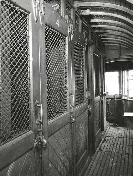 Interior of prison Tram, Sydney, NSW. v@e