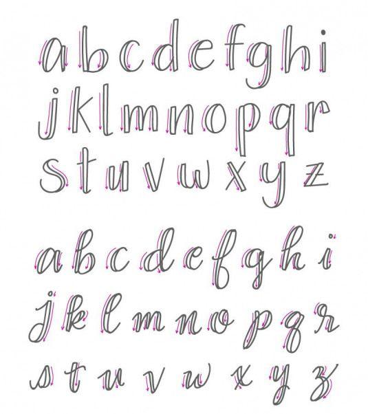 17 Letras cursivas faciles