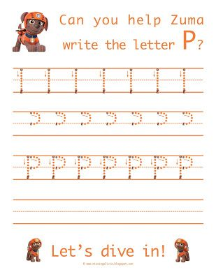 Life As A Moore Paw Patrol Letters O And P Lettering Preschool Writing Letter D Paw patrol kindergarten worksheets