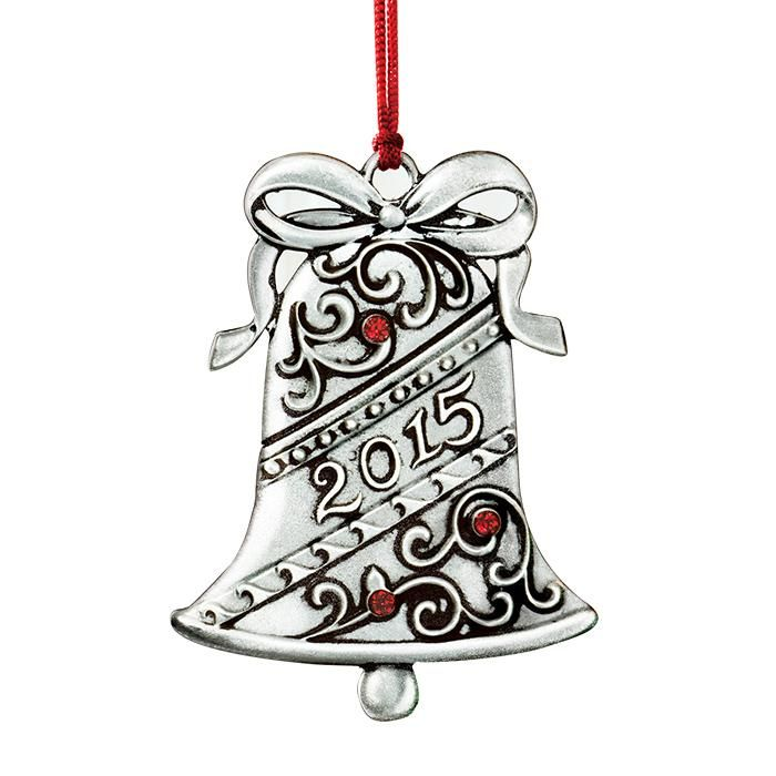 2015 AVON BELL PEWTER COLLECTIBLE ORNAMENT
