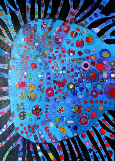Elke Trittel acrylic on canvas 87x118cm