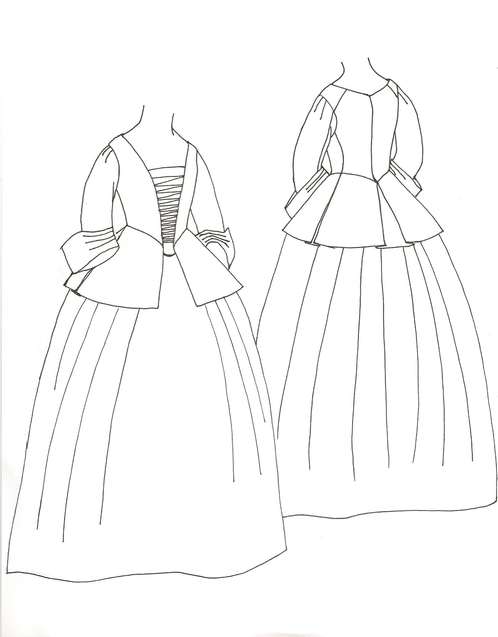 Calico Jacket And Petticoat
