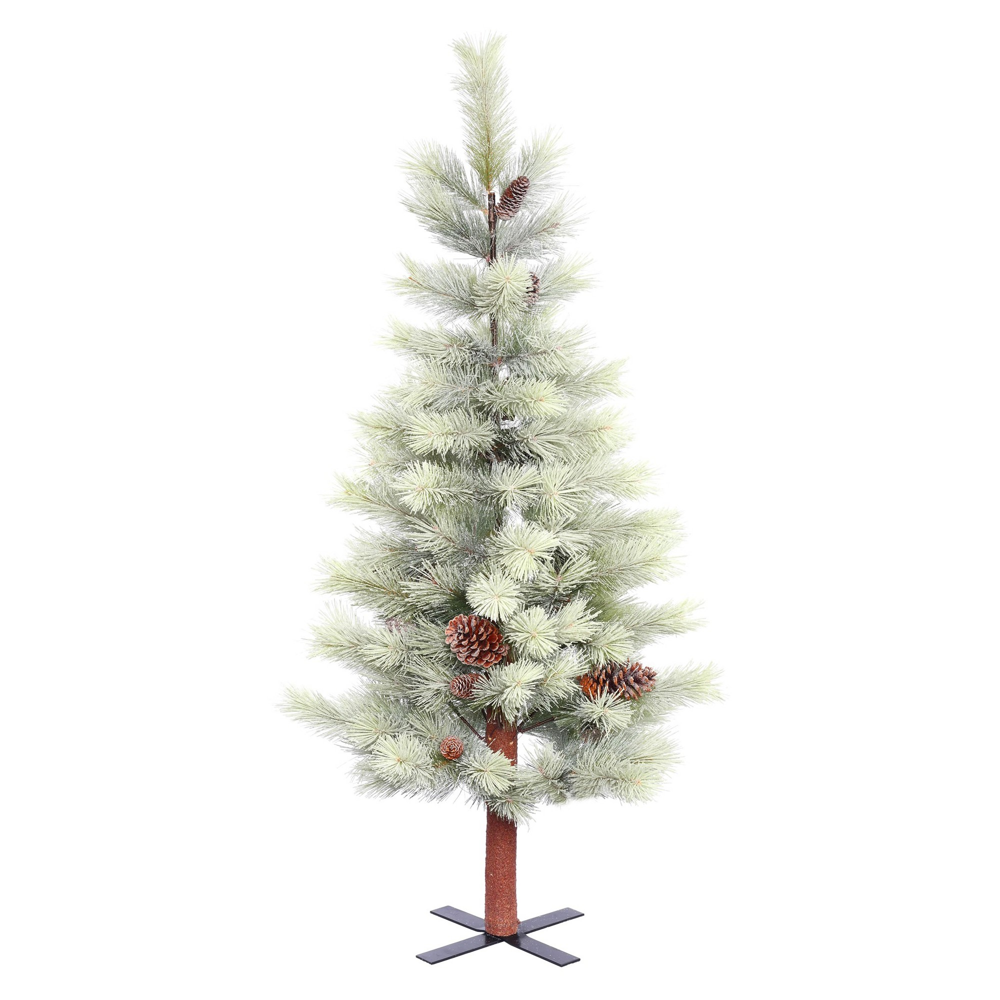 Frosted Slim Christmas Tree: 4.5' Unlit Artificial Christmas Tree Frosted Bellevue