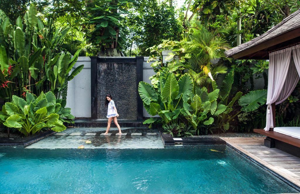 Petit jardin avec piscine pour un été rafraîchissant Pool spa