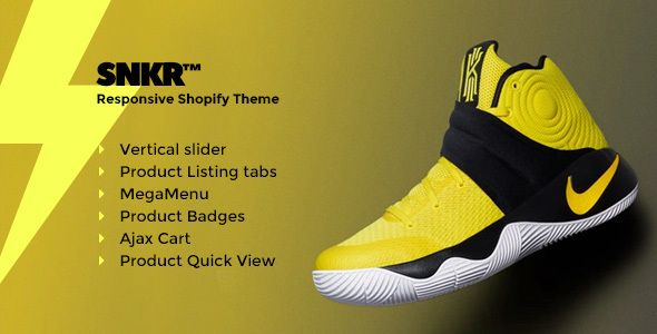 SNKR - Sneakers Responsive Shopify Theme  SNKR \u2013 Sneakers
