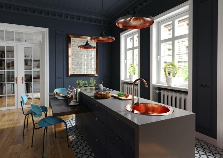 Arredare cucina soggiorno ambiente unico, pareti di colore ...