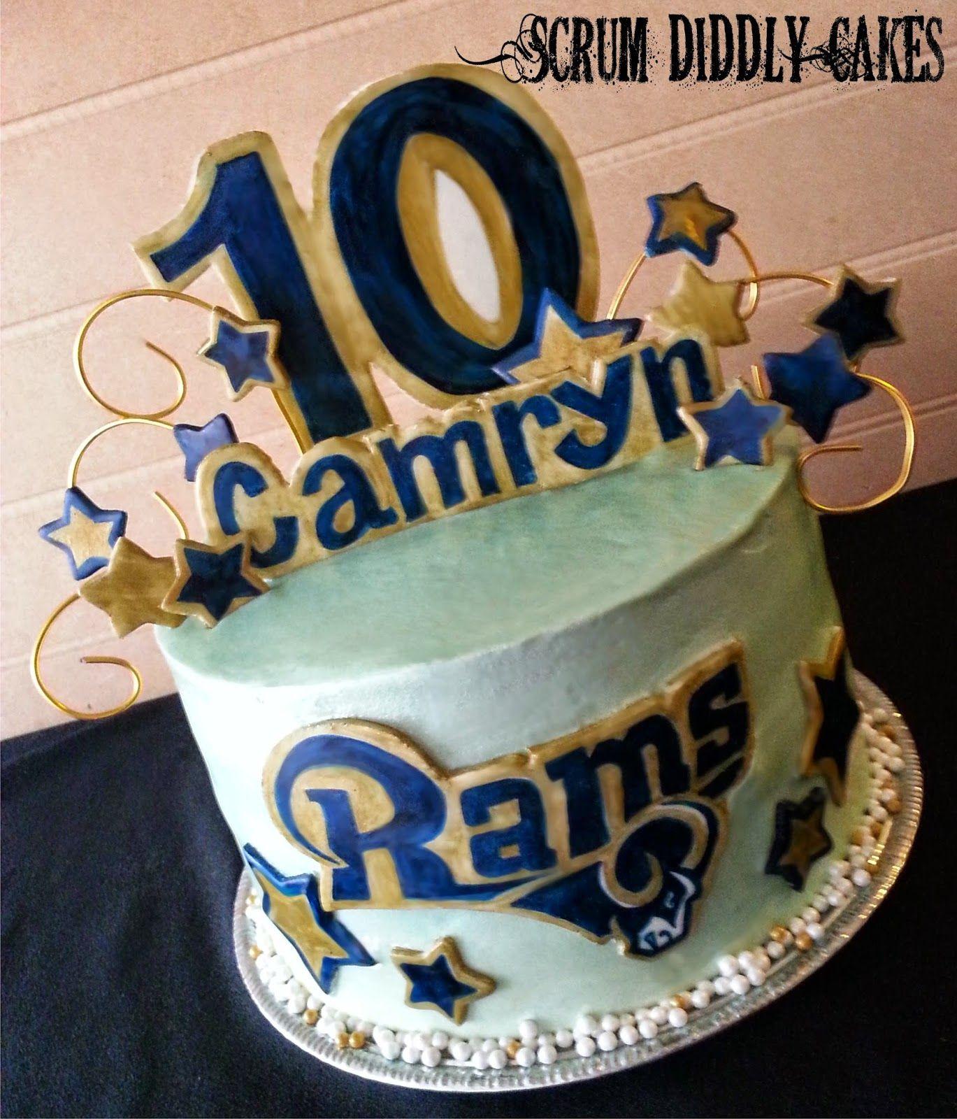Enjoyable Scrum Diddly Cakes St Louis Rams Birthday Nfl Cake Buttercream Funny Birthday Cards Online Alyptdamsfinfo