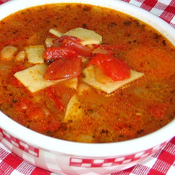 The Secret To Polish Tomato Rice Soup Recipe Tomato Soup Recipes Stuffed Peppers Peppers Recipes