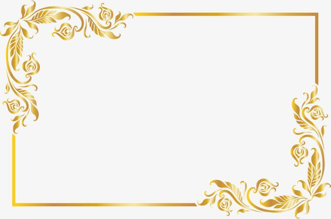 Golden Noble Frame Frame Clipart Golden Honorable Png Transparent Clipart Image And Psd File For Free Download Floral Border Design Poster Background Design Simple Photo Frame
