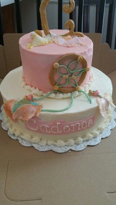 Dream Catcher Baby Shower Cake