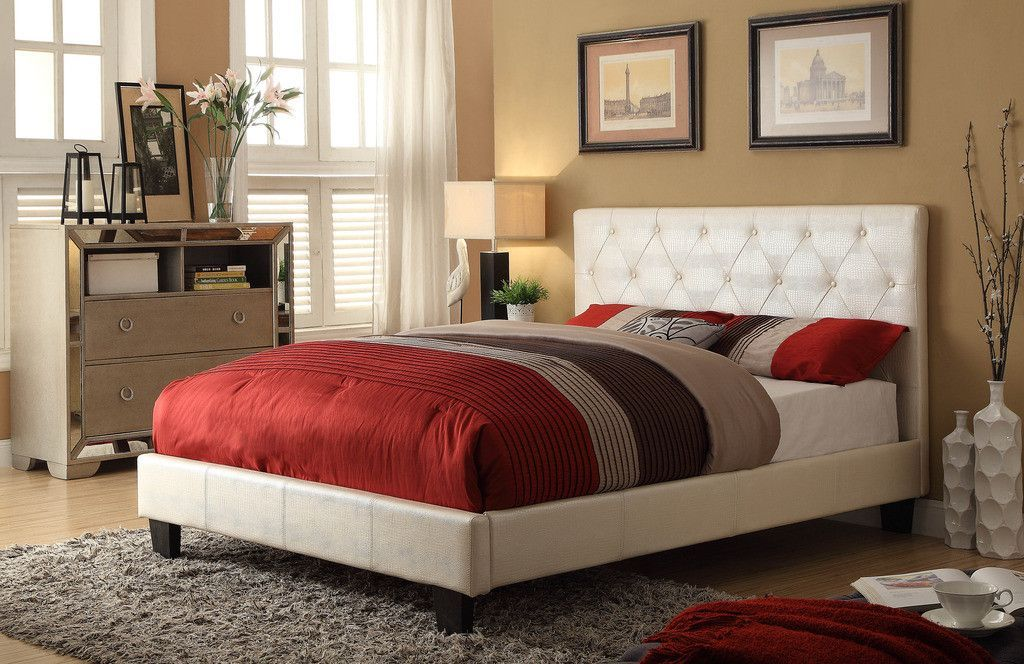 WorldWide HomeFurnishings Upholstered Platform Bed
