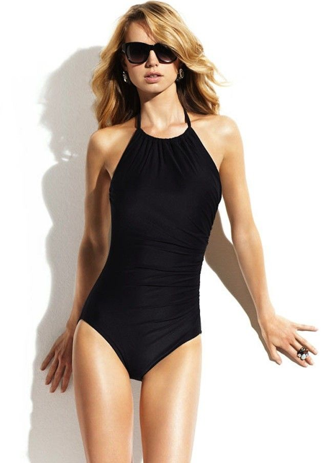 85077d86afd High Neck One Piece swimsuit - shirred low back - beautiful ...