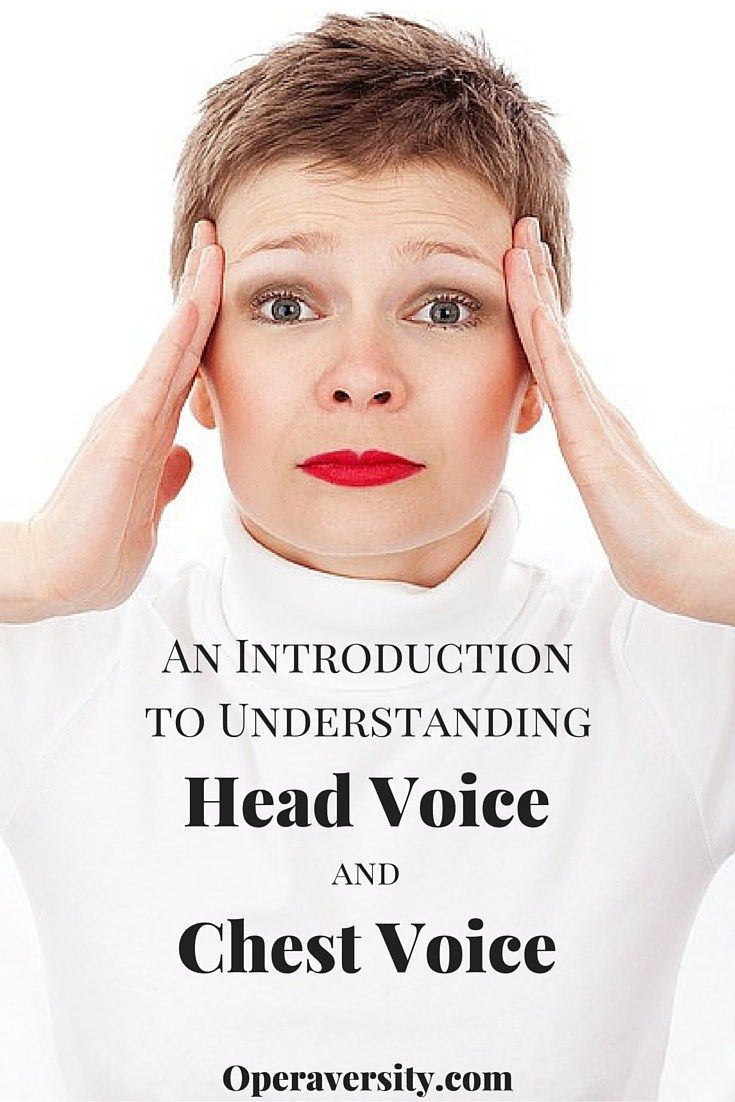 Explaining and understanding how head and chest voice work