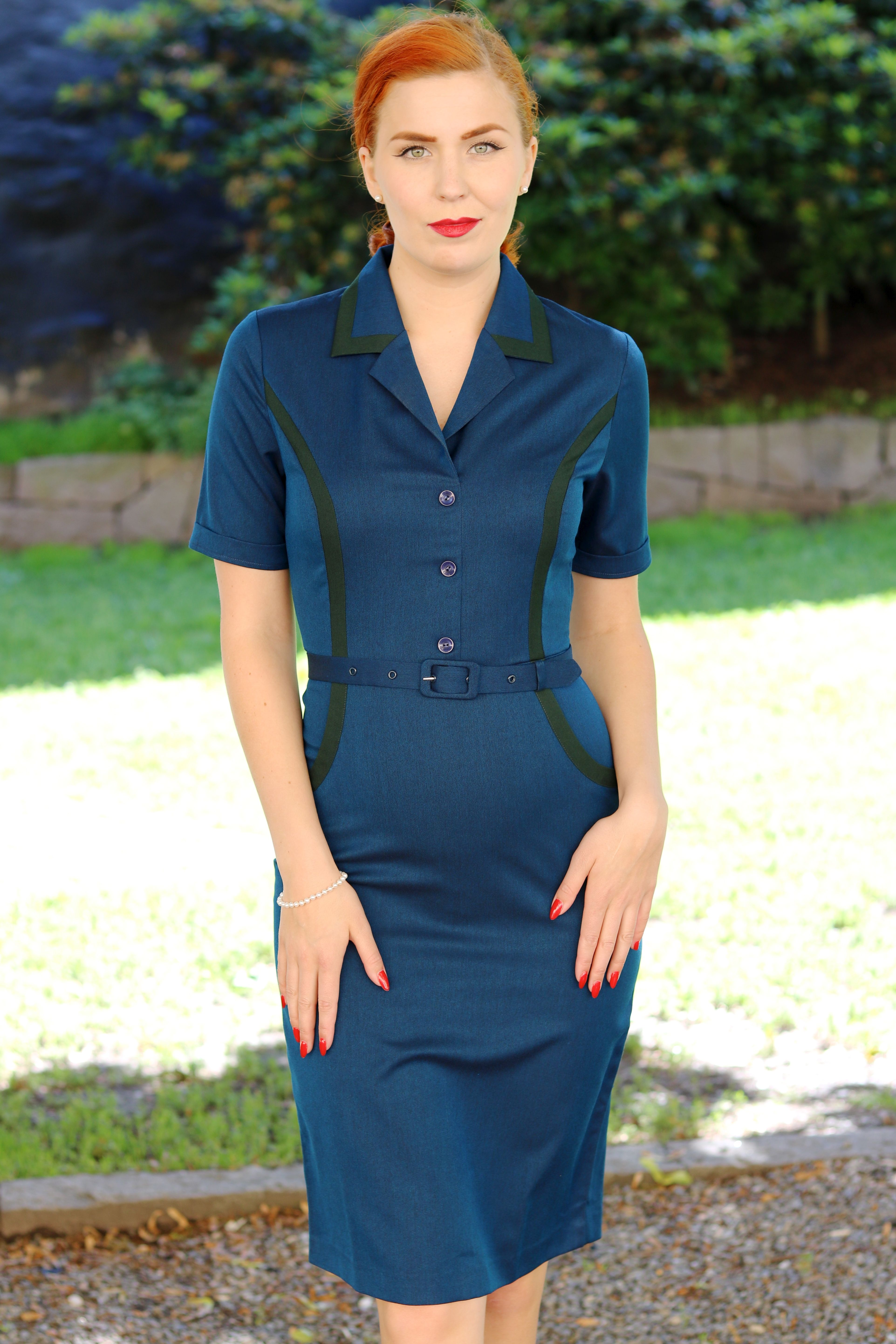46a8baa8fbe Daisy Dapper Collection Brenda Teal 1950s style available from our online  shop www.RocknRomance.co.uk