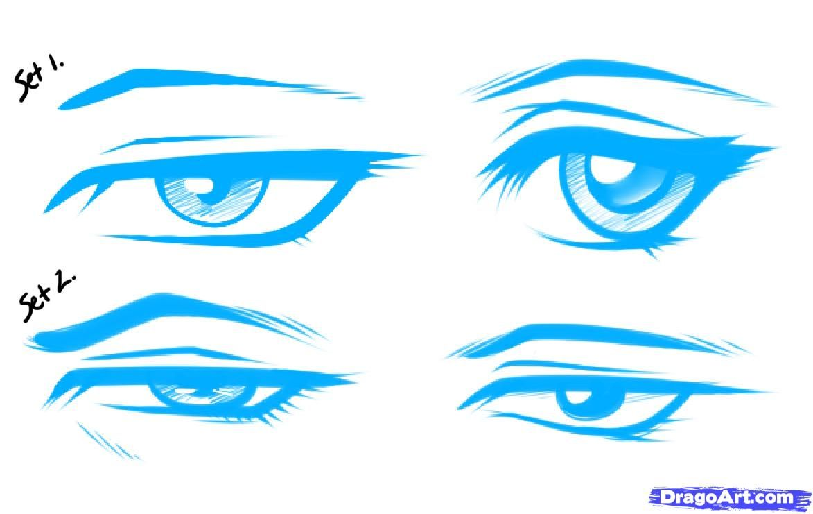 How To Draw Anime Male Eyes By Dawn Anime Eyes Manga Eyes