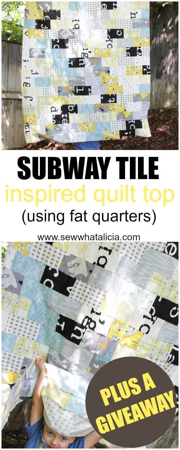 Subway Tile Inspired Quilt Top (using fat quarters