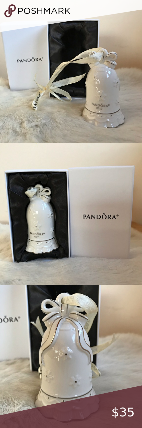 Pandora Christmas Ornament 2020 Pandora 2017 Ornament Christmas Bell Ivory Limited in 2020