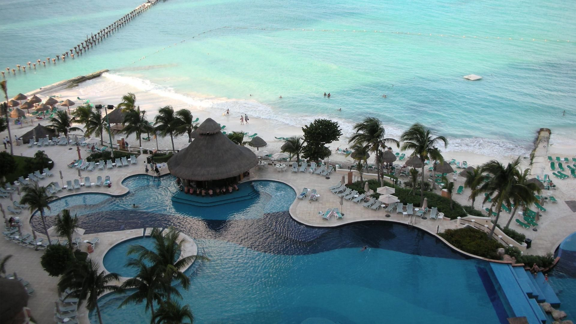 Cancun Mexico Beach Resort HD Wallpaper HD Pic
