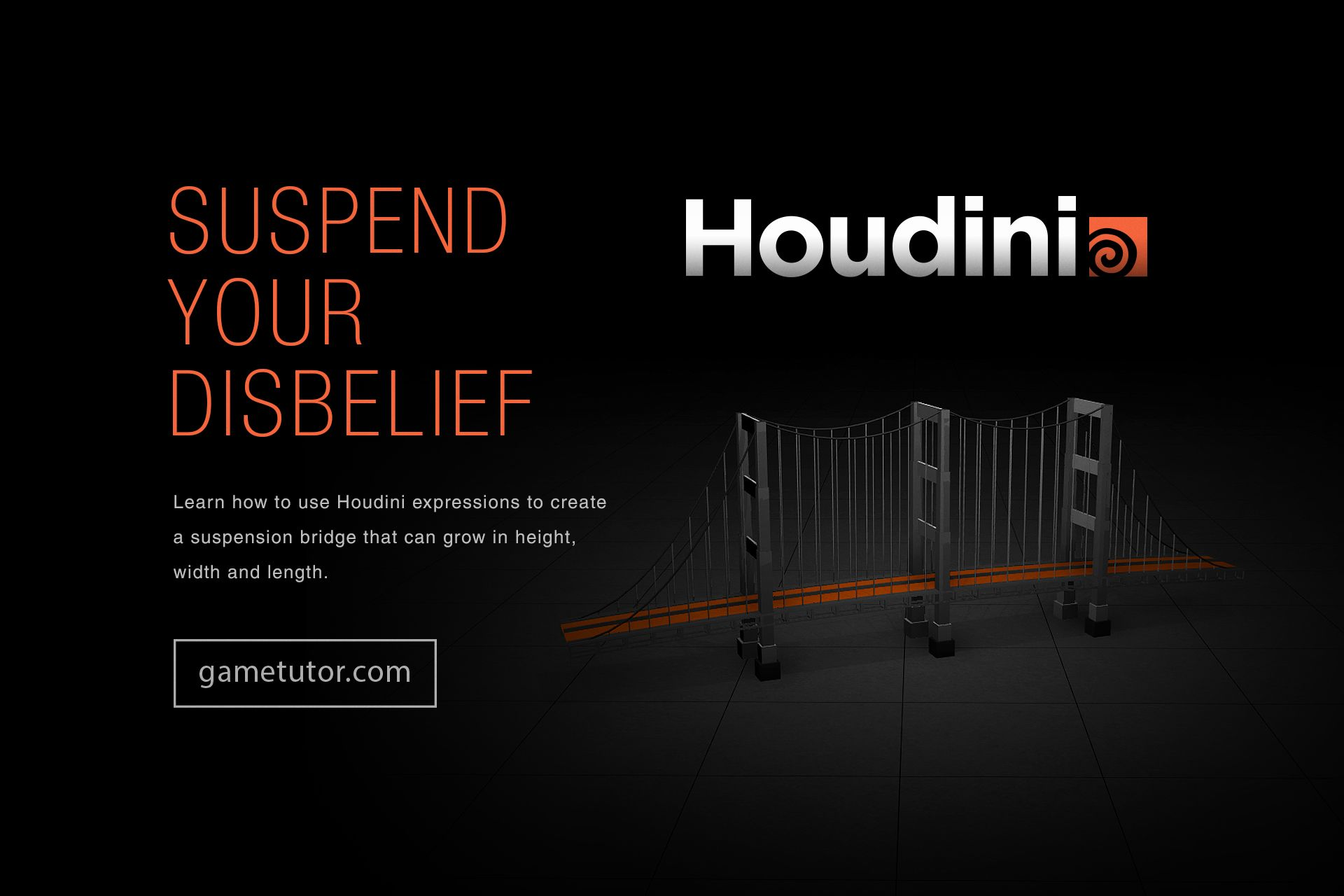 Learn how to use Houdini expressions to create a suspension