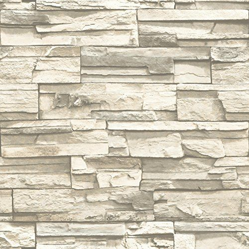 Roommates Rmk9026wp Natural Stacked Stone Peel And Stick Wall Decor Http Www Amazon Com Dp B01ids5zcs Stone Wallpaper Stacked Stone Peel And Stick Wallpaper