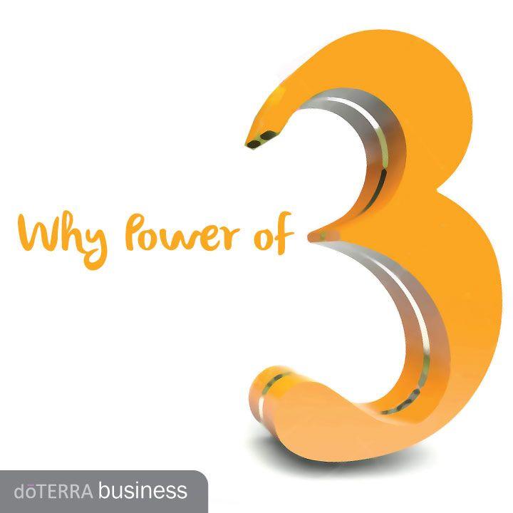 Why Power Of 3 Doterra Business Blog Dterra Construire Son