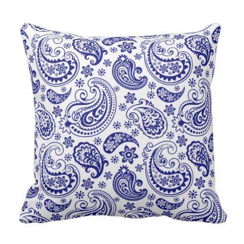 "Purple Paisley Floral Cushion Cover Throw Pillow Home Sofa Décor 17/"" 43cm"