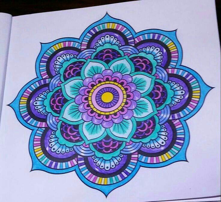 Mandalas zentangle colores | Mandalas | Pinterest | Zentangle ...