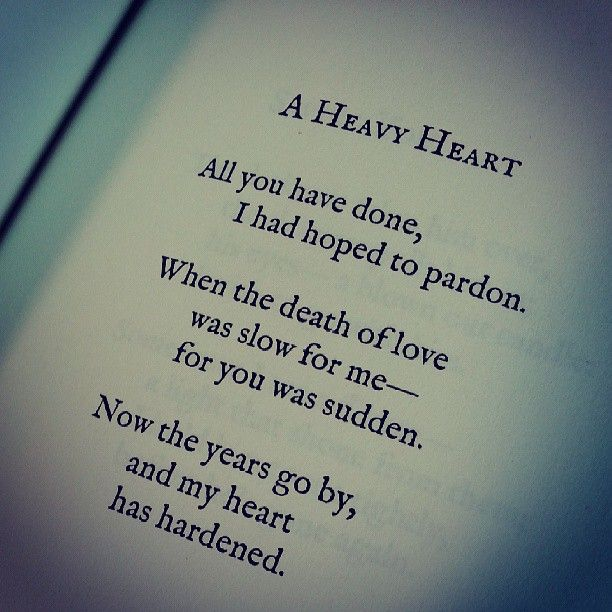 A Heavy Heart by Lang Leav, Love & Misadventure | Heavy ...