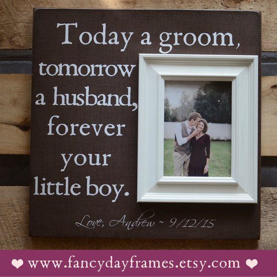 Mother Of The Groom Picture Frame Mother Father Of The Groom