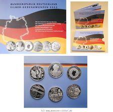 RITTER BRD, 6 x 10 Euro 2003,Blister,Museum,Liebig,17. Juni,Ruhrgebiet,Semper,WM #coins