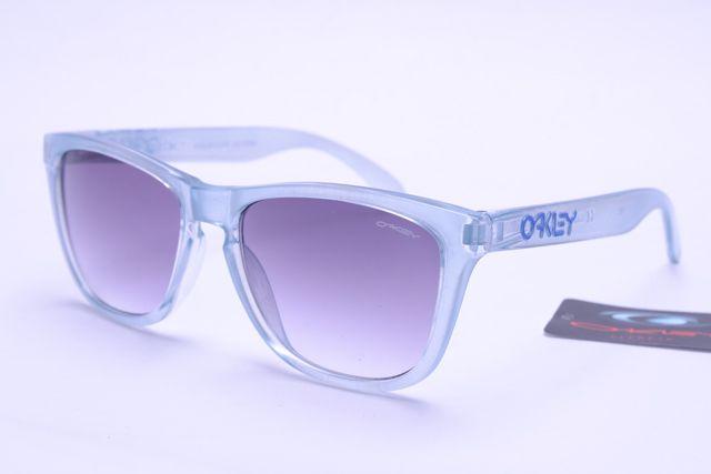 Oakley Frogskins Sunglasses Gray and White Frame Gray Lens B395 ...