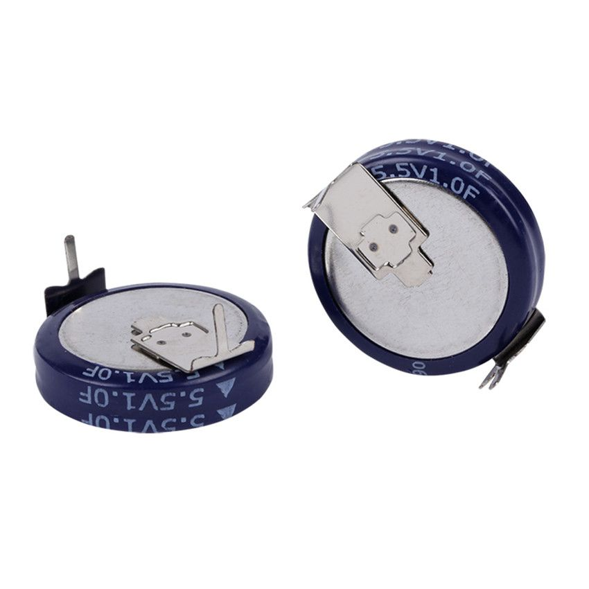 2pcs 5 5v 1 0f Super Capacitor Button Capacitor Fala Capacitance For Capacitive Type H Intelligent Instrument Capacitor Instruments Passive