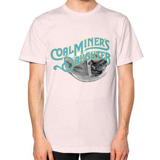 Coal miners daughter Unisex T-Shirt (on man) Ash grey Zacaca Shop USA
