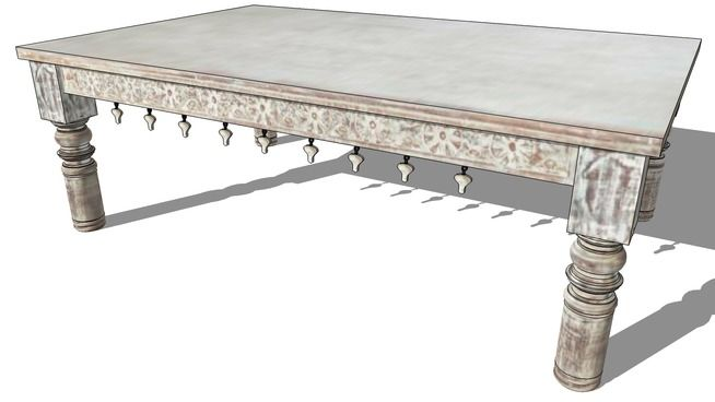Large preview of 3D Model of table basse CACHEMIRE, maisons du monde, ref 129735 prix 389€