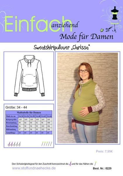 cf39ebdd4a79 Schnittmuster Schwangerschafts-Pullover