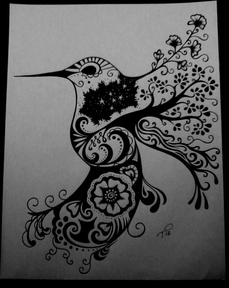 Custom ink drawing black white commissioned artwork by for Drawing design ideas