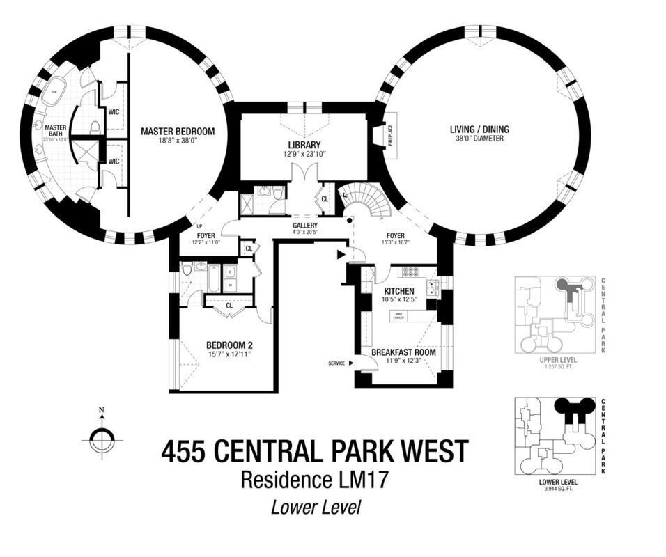 Live In The Turrets Of A Castle On Central Park For 8m Floor Plans Central Park Apartment Floor Plans