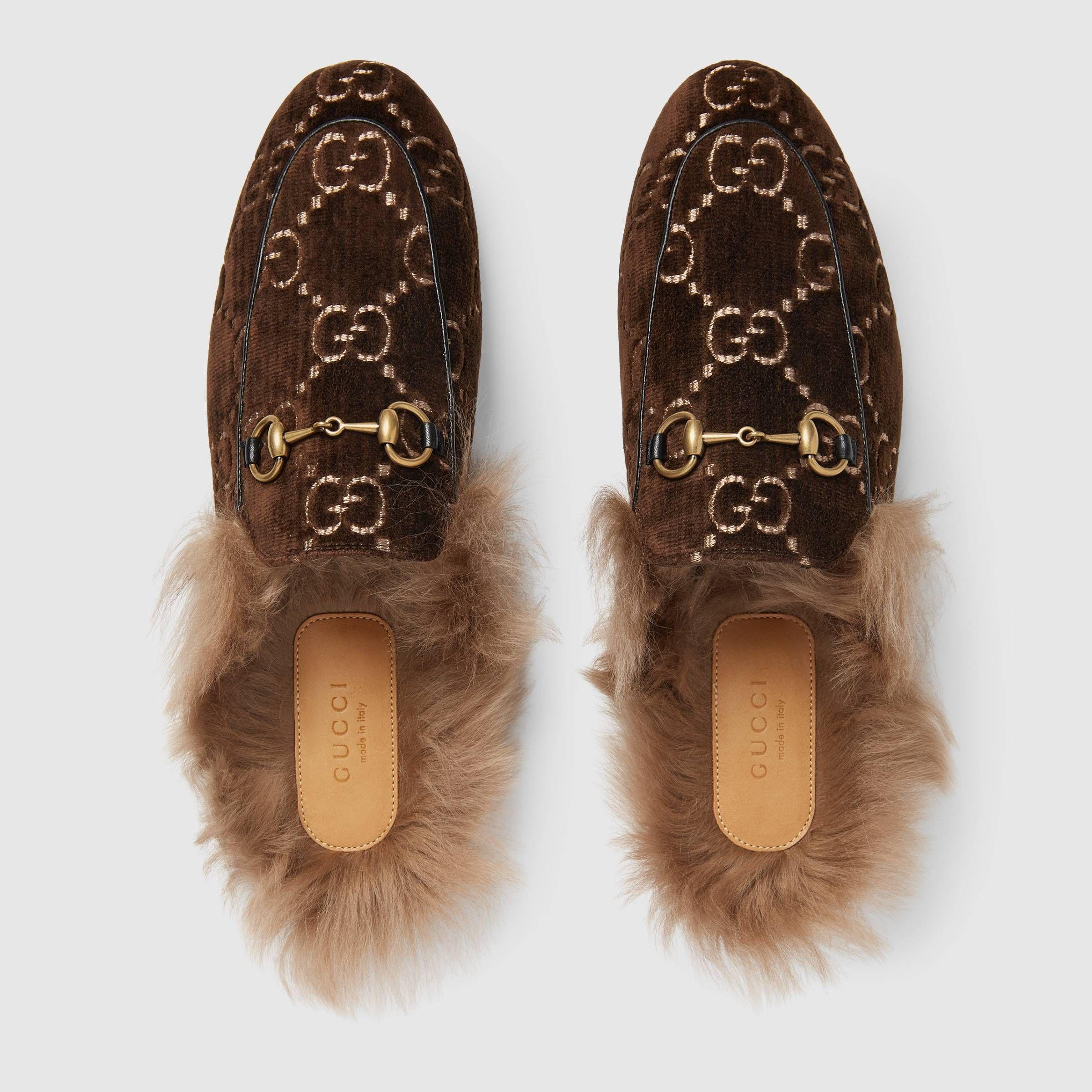 3f07cb3b74 Princetown GG velvet slipper   Fall 2018   Velvet slippers, Slippers ...
